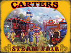 CARTERS STEAM FAIR TRACTION ENGINE CIRCUS METAL PLAQUE TIN SIGN NOSTALGIC 341