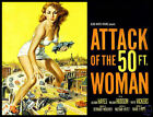 Attack of the 50 ft Woman FRIDGE MAGNET 6x8 Classic Movie Magnetic Poster #HG