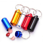 Small Pill Case Outdoor Portable First Aid Container Water Bottle Holder KeyRing