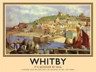 WHITBY HARBOUR YORKSHIRE QUICKER BY RAIL TRAIN METAL PLAQUE SIGN NOSTALGIC 413