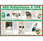 AED Defibrillation & CPR Poster - A625