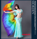 New 2017Colorful Belly Dance Costumes Performance Silk Veil Shawl Scarf