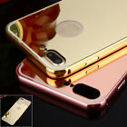Luxury Shockproof Aluminum Bumper Mirror Back Case Cover For iPhone 6/6S/7 Plus