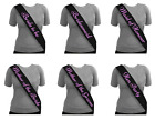 HEN PARTY Night BLACK SASH PINK TEXT Bride To Be Bridesmaid Mother of Maid.. etc