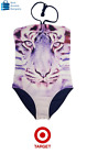Target Girl Clothes Girls Bathers Swimming Girl Sizes 10, 12, 14, 16 Purple Lion