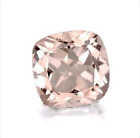 Genuine Natural Morganite Cushion Peach Pink Color Loose Stones (5x5mm - 10x10mm
