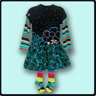 NWT Catimini girls infant/toddler clothing 2pc dress with tights RETAIL $ 129.00