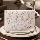 laser cut card - White Wedding Invitation Card Personalized Laser Cut  Romantic Party Floral Lace