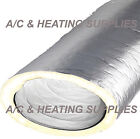 Silver HVAC Flex Insulated Flexible Duct (R6 Insulation CODE) Each 25 Feet LONG