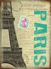 PARIS POST CARD FRANCE EIFFEL TOWER TRAVEL POSTER METAL SIGN PLAQUE ART DECO 629
