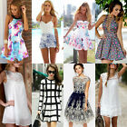 Sexy Women Summer Casual Lace Sleeveless Evening Cocktail Party Short Slim Dress