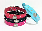 Cute Dog Collar with Prince Princess Bling Crown Charms XS/S/M 4 Colors