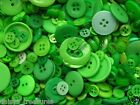 Buttons Greens Creams colours 50g 100g or 250g mixed button sizes colours new