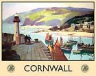 CORNWALL LIGHTHOUSE HARBOUR BOATS VINTAGE STYLE TIN WALL PLAQUE METAL SIGN 1021