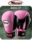 TWINS SPECIAL BOXING GLOVES BGVL-3T PINK BLACK MUAY THAI MMA K1 SPARRING