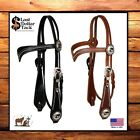 LIMITED EDITION PRAYING COWBOY WESTERN HEADSTALL & REINS ~BLACK ~MED OIL LEATHER