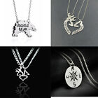 Deer Hunting Her Buck His Doe MAMA Bear Compass Sister Heart Pendant Necklace