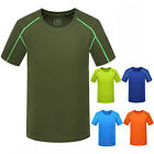 Men Fitness Quick Dry T-shirt Short sleeve Sport Breathable Running Tee Shirt