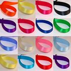 QUALITY SATIN RIBBON DOUBLE SIDED CRAFTS CUT LENGTHS or ROLLS 3 ,6 ,10 ,15mm