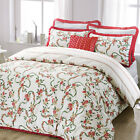 Victorian English Country Style Roses Floral Duvet Cover Set with Pleated Edges