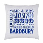 PERSONALISED PRINTED LARGE CUSHION COVER MR & MRS WEDDING ANNIVERSARY GIFT