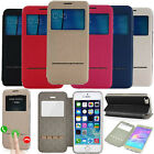 Shockproof Flip Leather Cover Window View Stand Case for Samsung A3 A5 A7 (2017)