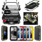 Hard Shockproof Aluminum Glass Metal Case Cover For iPhone X 8 7 6s Plus 5 5s SE