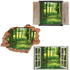 Window Wall Sticker Decal Vinyl 3D The beautiful Mural Forest TREES home art roo