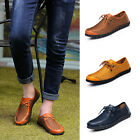 New Men Driving Slip On Loafers Leather Shoes Summer Breathable Mesh Shoes