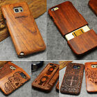 Genuine Natural Wood Bamboo Case Cover for Samsung Galaxy S8 S6 S7 Edge Note 4 5