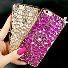 Bling Glitter 3D Crystal Diamond Rubber Soft TPU Case Cover For iPhone 7 7 Plus