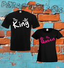 COUPLE T-SHIRT the KING his QUEEN valentine's day couples husband moglie