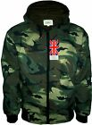 Uni Army Camo Camouflage Hooded Hoody Jacket Light Top Hunting Fishing Big SIZE