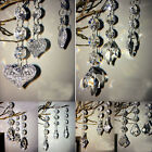 10/30pcs Clear Acrylic Crystal Beads Garland Chandelier Hanging Wedding Supplies