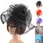 Women Handmade Hair Flower Headband Large Hat Fascinator Wedding Party Accessory