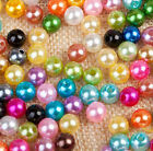 Mixed Colors Pearl Round Loose Beads Jewelry Finding 4/5/6/8/10mm Craft Random