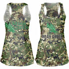 North Texas Mean Green Women's Camo Cover-Up Burnout Tank Top - College