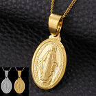 Virgin Mother Mary Oval Jewelry Charm Medal Pendant Religious Pendant