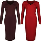 New Ladies Marks & Spencer Bodycon Pencil Dress Fitted Office Work Formal V Neck