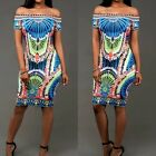 Hot Women Casual Bandage Bodycon Floral Evening Party Cocktail Mini Summer Dress