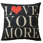 Funny words Cushion Cover Pillowcase Quote Sofa Waist Seat Square Pillow Cover