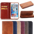 Magnetic Flip Card Holder PU Leather Wallet Retro Case Cover Skin for iphone