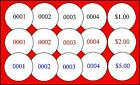 Consecutive Numbered Round Labels/Stickers Sales Price / Auctions/ Antique Shows