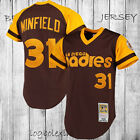 San Diego Padres 1978 Dave Winfield 31 Baseball Jersey Brown Throwback