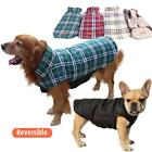 Waterproof Pet Dog Clothes Puppy Warm Plaid Padded Vest Jacket Coat Size XS-XXXL