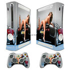 Cool Sexy 2 Girl vinyl decal Sticker Skin cover case for xbox360 Console wy96