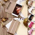 Luxury PU Leather Flip View Window Stand Cover Case For Huawei P10/P10 Plus
