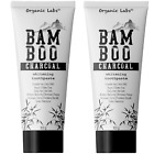 Black Charcoal Toothpaste Teeth Whitener 100% Organic Fluoride Free 2 Pack