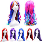 Womens 70cm 80cm Long Wavy Curly Wig Lady Girl Synthetic Full Hair Cosplay Party