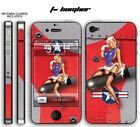 247 Skin iPhone 4 T-Bomber Red Phone Wrap Decal Sticker Wrap